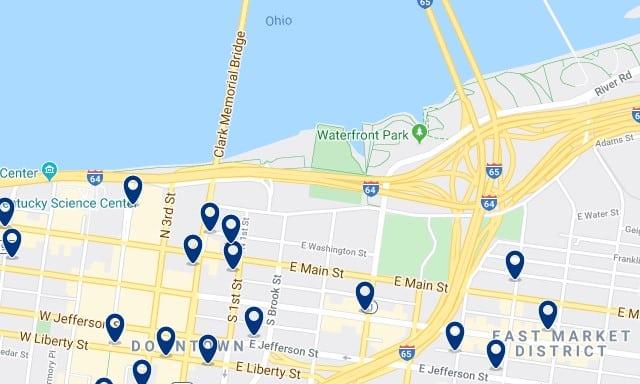Alojamiento en Waterfront Park - Clica sobre el mapa para ver todo el alojamiento en esta zona