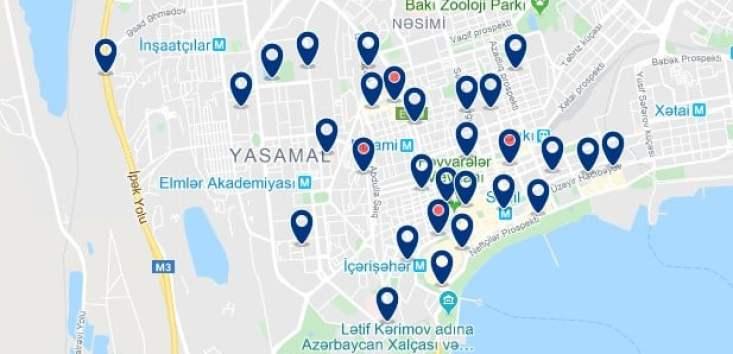 Alojamiento en Yasamal - Clica sobre el mapa para ver todo el alojamiento en esta zona