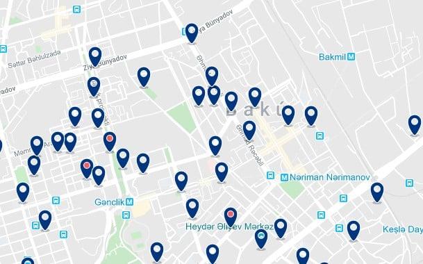 Alojamiento en el Old Town de Barakú - Clica sobre el mapa para ver todo el alojamiento en esta zona