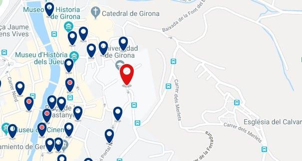 Alojamiento cerca de la Universidad de Girona - Clica sobre el mapa para ver todo el alojamiento en esta zona