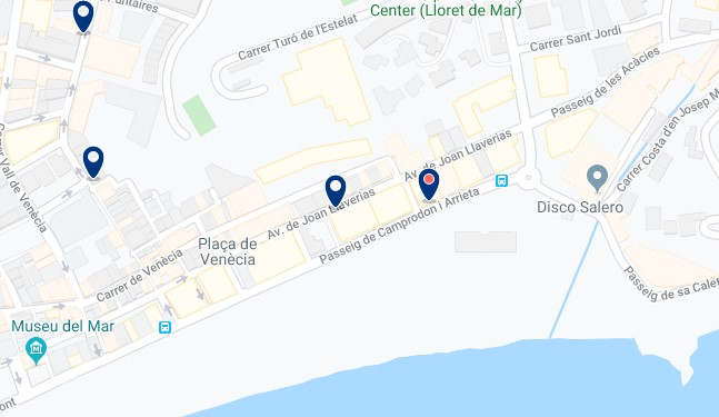 Alojamiento en Platja de Canyelles - Clica sobre el mapa para ver todo el alojamiento en esta zona
