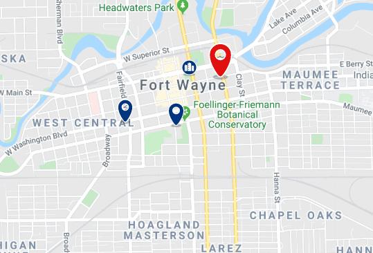 Alojamiento en el Downtown de Fort Wayne - Haz clic para ver todo el alojamiento disponible en esta zona