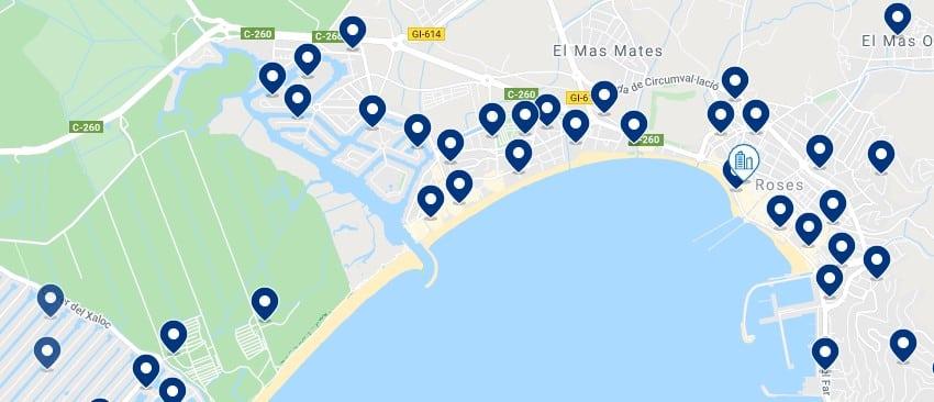 Alojamiento en Roses - Haz clic para ver todo el alojamiento disponible en esta zona