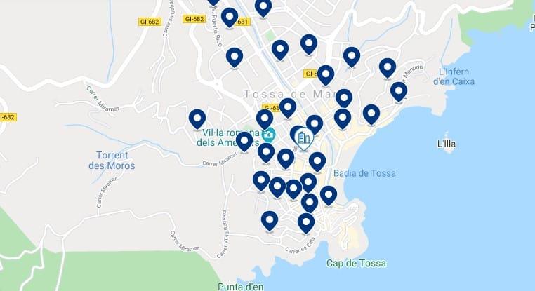Alojamiento en Tossa de Mar - Haz clic para ver todo el alojamiento disponible en esta zona