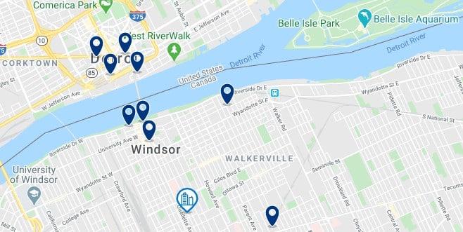 Alojamiento en Windsor - Clica sobre el mapa para ver todo el alojamiento en esta zona