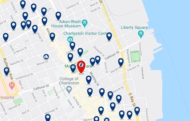 Alojamiento en Historic District & French Quarter - Clica sobre el mapa para ver todo el alojamiento en esta zona