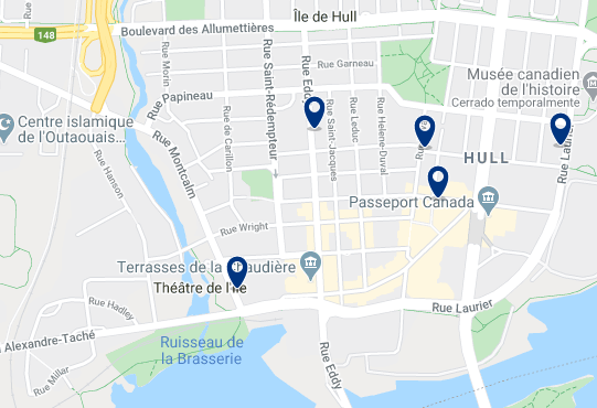 Accommodation in Hull - Click on the map to see all available accommodation in this area