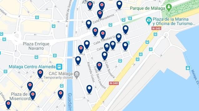 Alojamiento en el Soho - Clica sobre el mapa para ver todo el alojamiento en esta zona