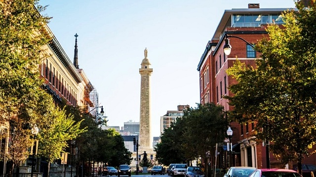 Recommended area to stay in Baltimore, Maryland - Near the Washington Monument
