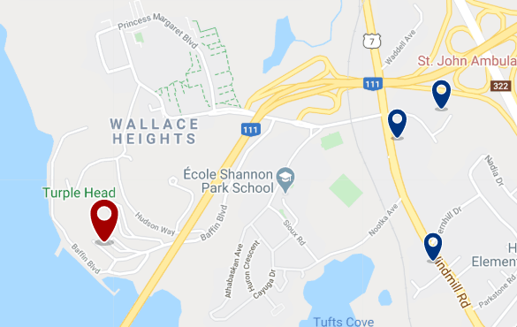 Accommodation near Bedford Institute of Oceanography - Click on the map to see all available accommodation in this area