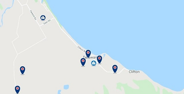 Accommodation in Te Awanga - Click on the map to see all available accommodation in this area
