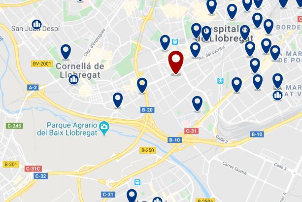 Alojamiento en Hospitalet Centro - Haz clic para ver todo el alojamiento disponible en esta zona