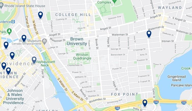 Alojamiento cerca de Brown University - Haz clic para ver todos el alojamiento disponible en esta zona