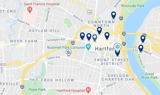 Alojamiento en Downtown Hartford - Haz clic para ver todos el alojamiento disponible en esta zona