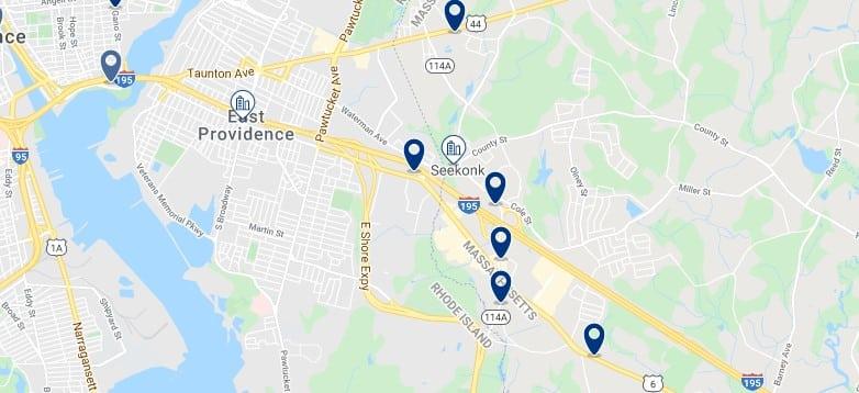 Alojamiento en East Providence - Haz clic para ver todos el alojamiento disponible en esta zona