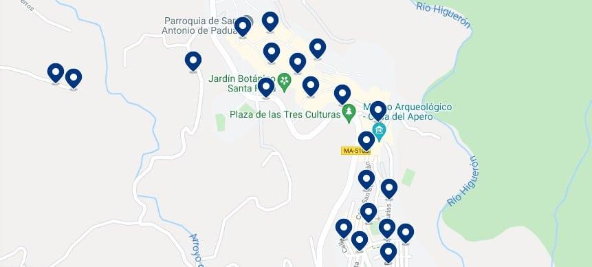 Alojamiento en Frigiliana - Haz clic para ver todo el alojamiento disponible en esta zona