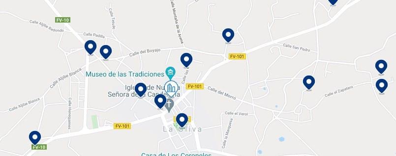 Alojamiento en La Oliva - Haz clic para ver todo el alojamiento disponible en esta zona
