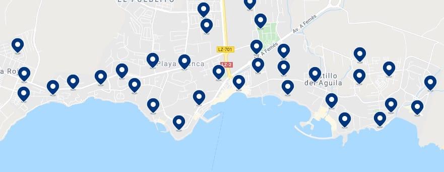 Alojamiento en Playa Blanca - Haz clic para ver todo el alojamiento disponible en esta zona
