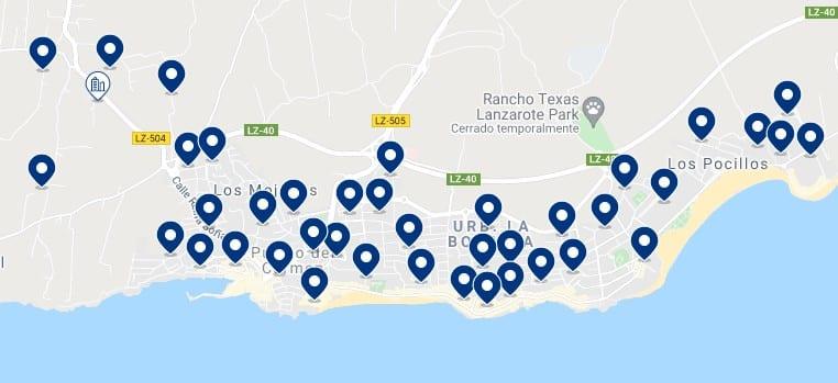 Alojamiento en Puerto del Carmen - Haz clic para ver todo el alojamiento disponible en esta zona