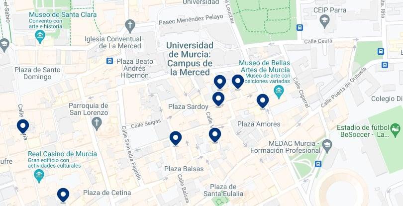 Alojamiento cerca de la Universidad de Murcia – Haz clic para ver todo el alojamiento disponible en esta zona