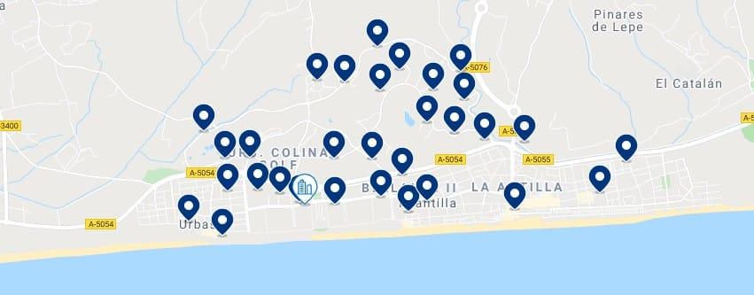 Alojamiento en Islantilla & La Antilla – Haz clic para ver todo el alojamiento disponible en esta zona