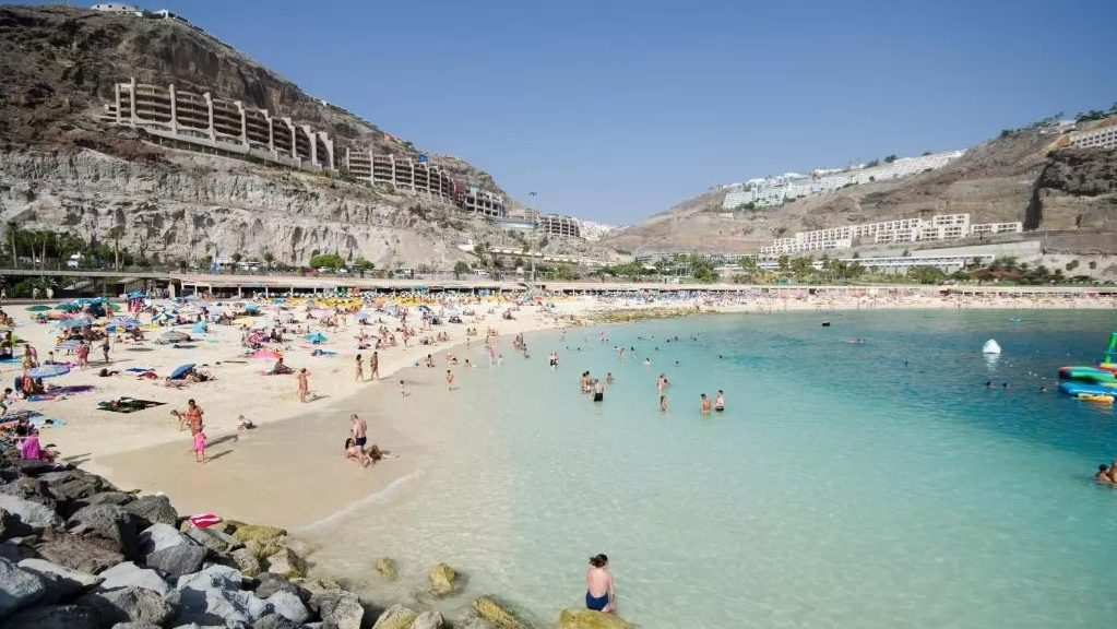 Puerto Rico is a quiet area to stay on the island of Gran Canaria
