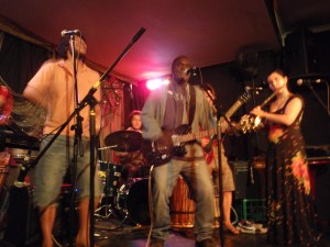 Photo of Clive Porabou with his band