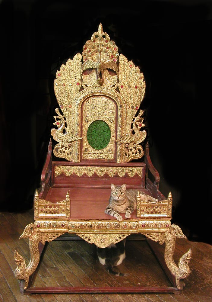 Head Monks Chair  Burma 19th century
