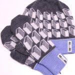 Lasna blue hat+mittens
