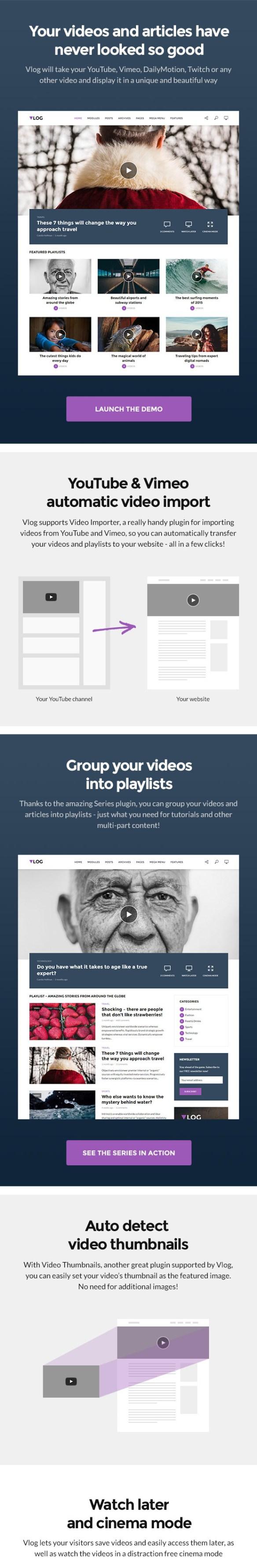 Edit Vlog - Video Blog / Magazine WordPress Theme