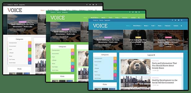 Voice - Clean News/Magazine WordPress Theme