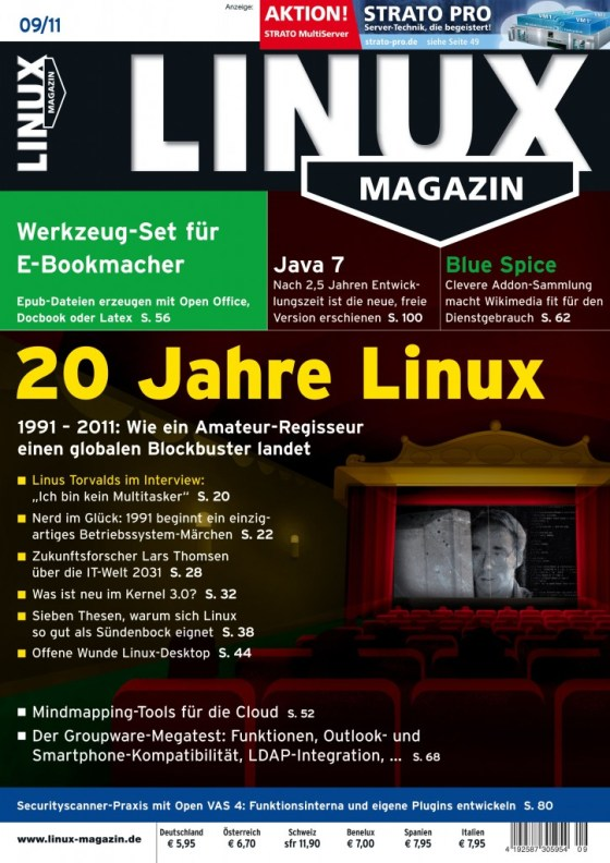 Linux Magazin Ausgabe September 2011