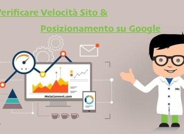 Verificare posizionamento Google e Velocita sito web wordpress