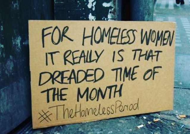 Help us provide safe, super-absorbent sanitary napkins to our homeless women along with other much-needed hygiene supplies.