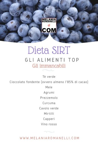 """L'elenco degli alimenti """"immancabili"""" della dieta SIRT"""