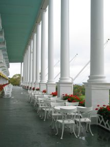 Grand Hotel Porch Mackinac Island