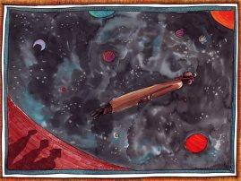 Mars - Encres de couleur