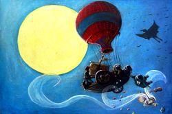 Voyage diurne- Pastel gras