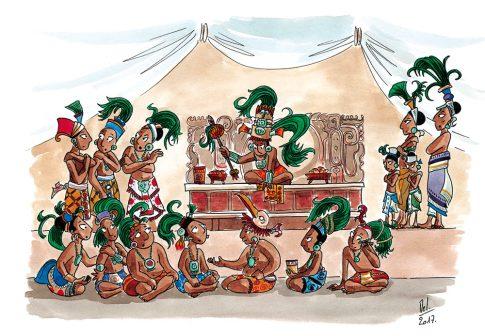 Panneau 3 du site Piedras Negras - Reconstitution - Musée d'Archéologie du Guatemala