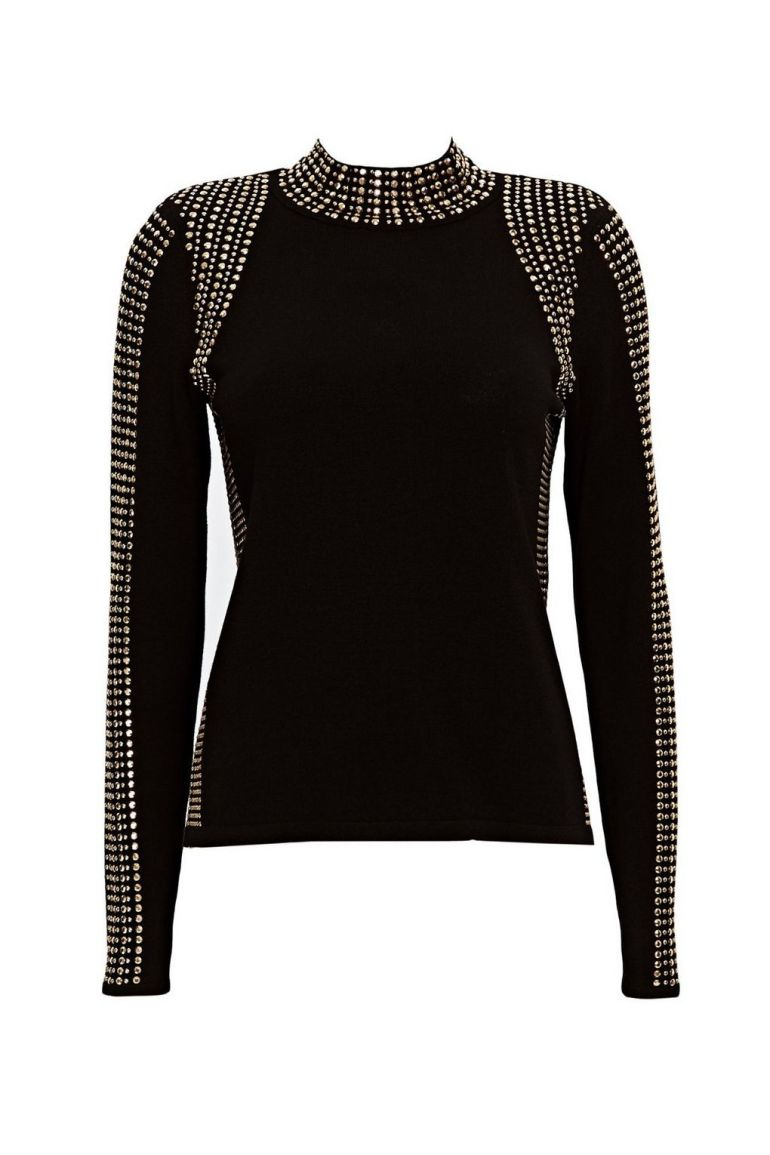 black studs jumper