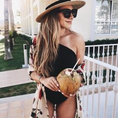 Black one piece, fashion blogger, beach outfit, Cabo San Lucas #beachvacationoutfits
