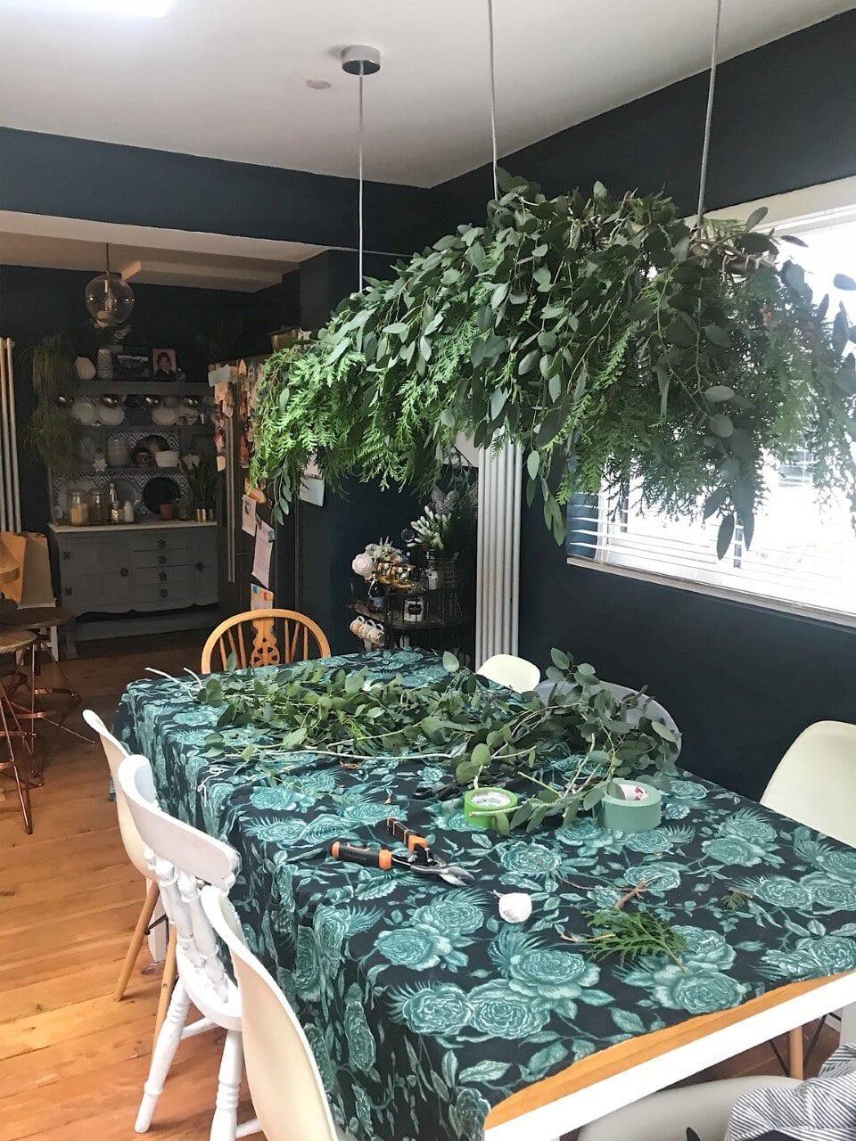 A big busy bush of fir and eucalyptus
