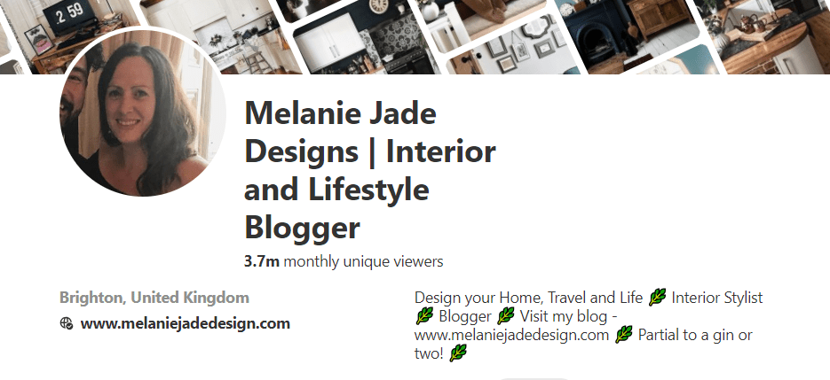 My website mentioned just a few times in my profile!
