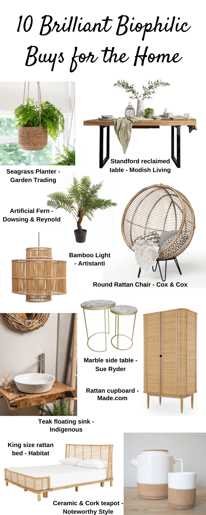 10 Brilliant Biophilic Buys for the Home