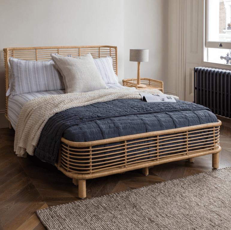 A styled  Habitat Nadia double bed