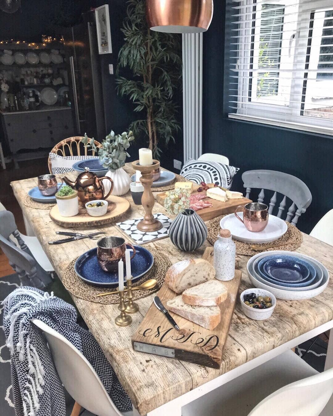 My first real attempt at table styling. I'll admit, I've got a long way to go!! Instagram:  @melaniejadedesign