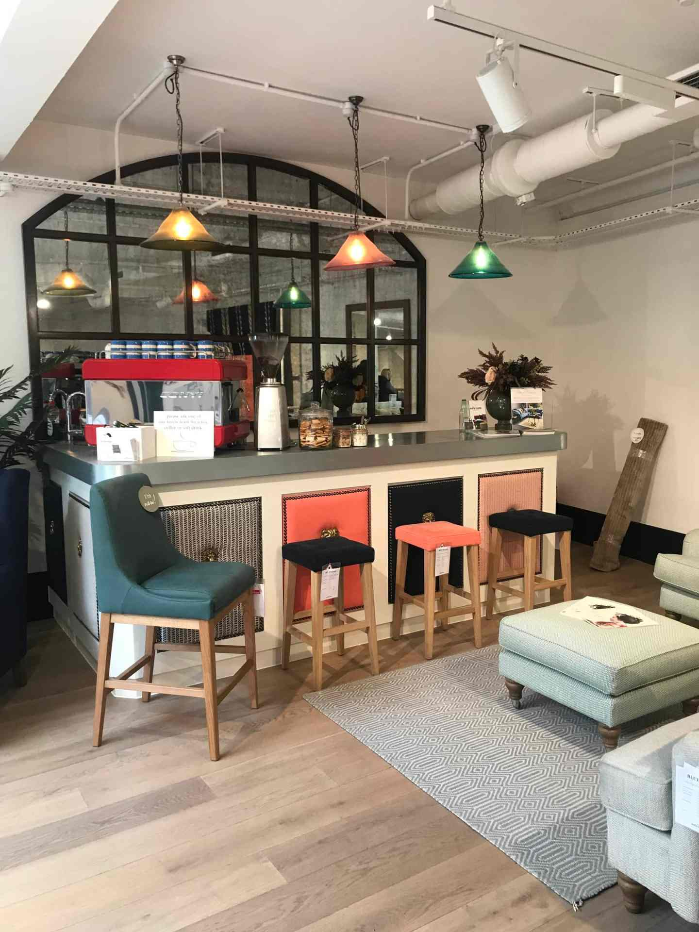 Loved the colour scheme of the sofa.com bar area. So much inspiration everywhere
