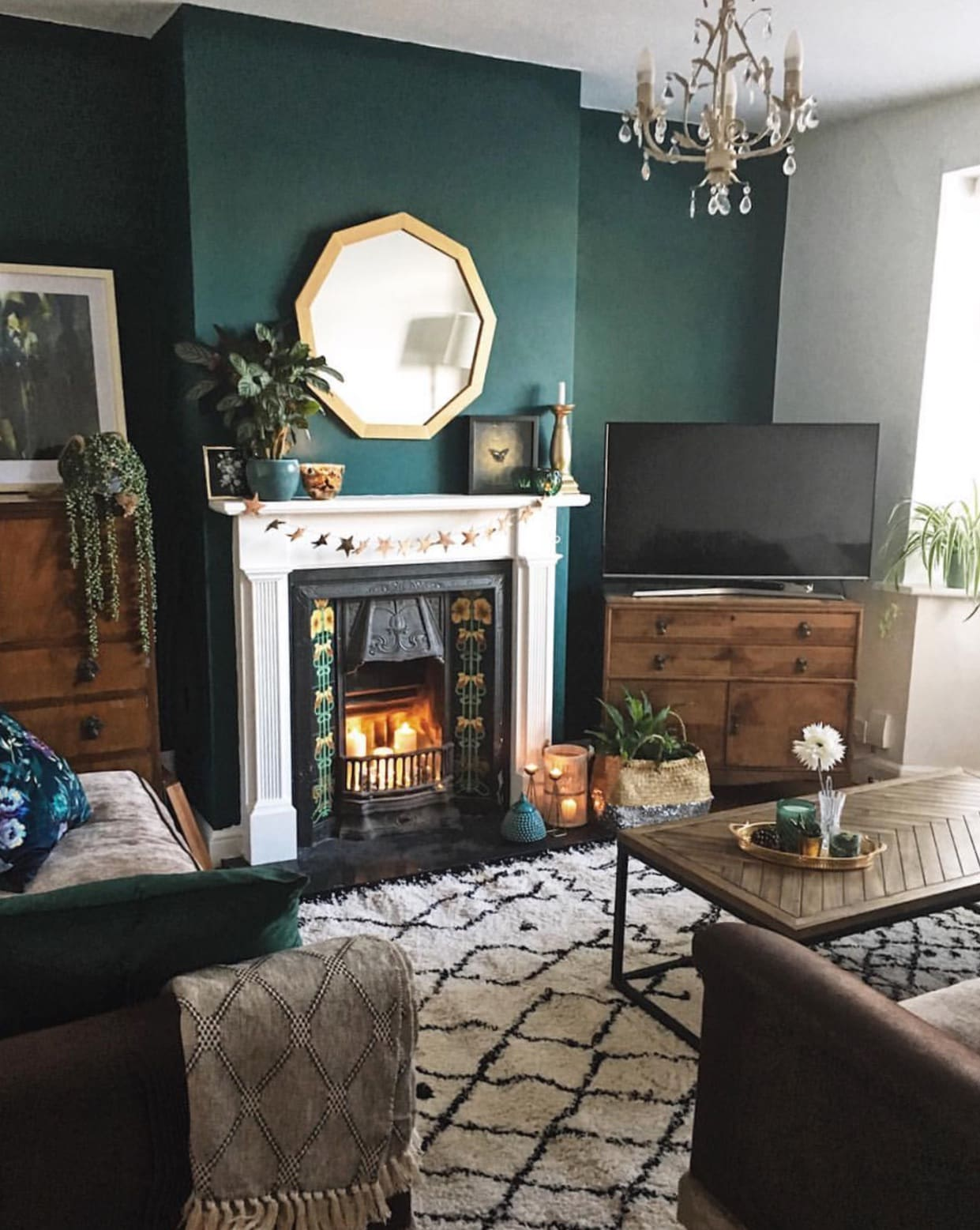 How To Use Dark Green In Your Living Room Melanie Jade Design