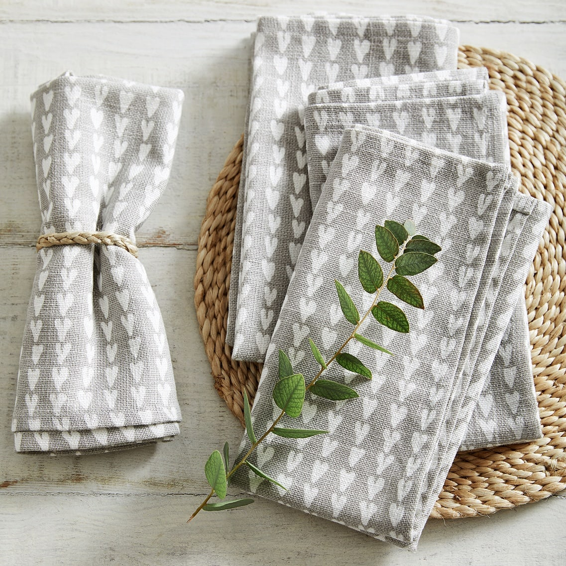 Heart Print napkins -  The White Company