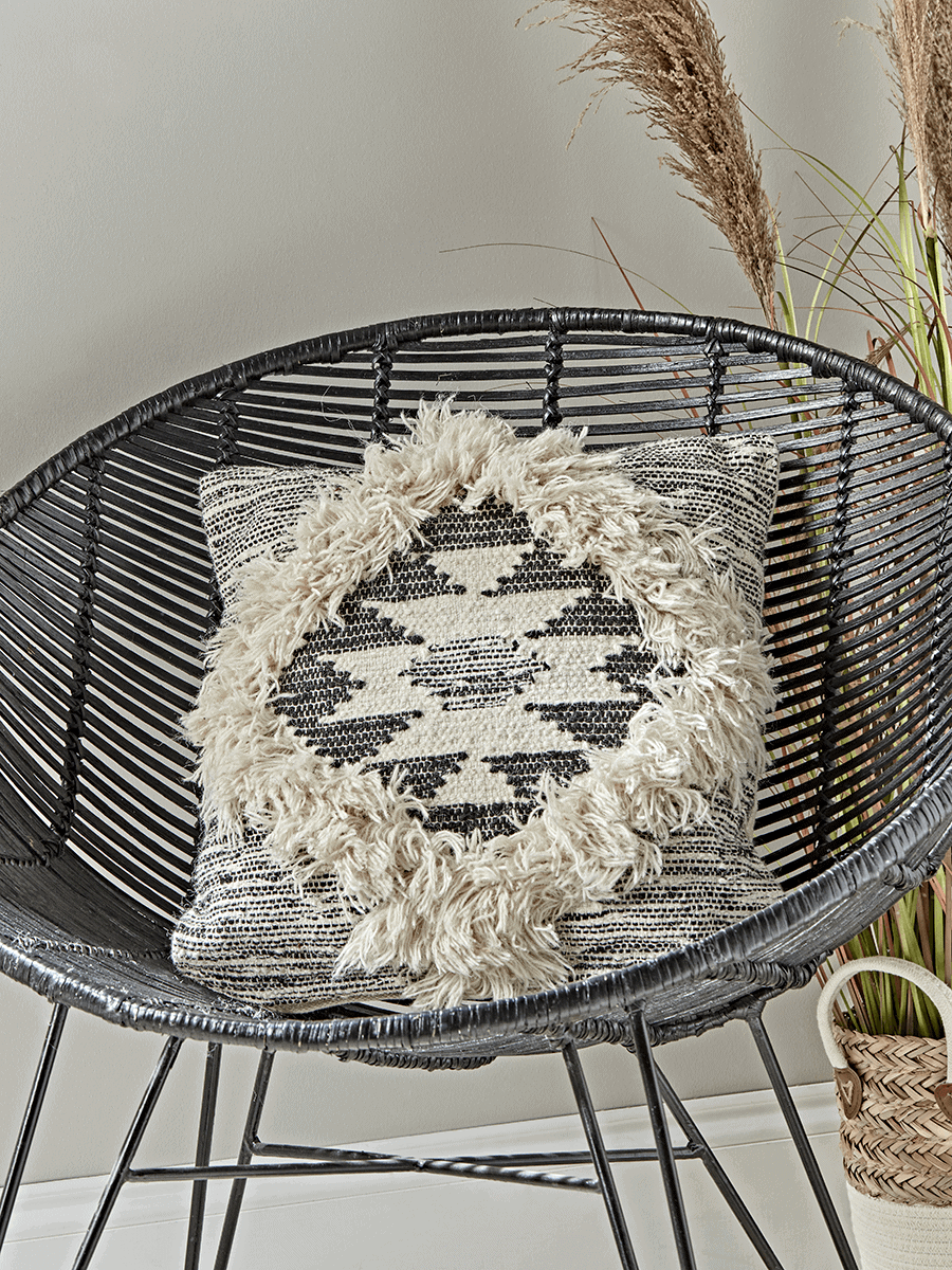 Textured Diamond Cushion by Cox and Cox